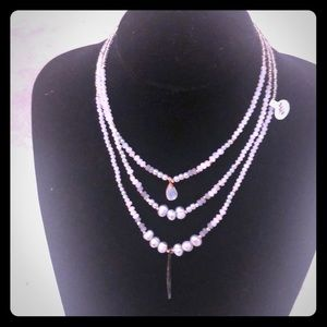 NWT NAKAMOL GORGEOUS 3 TIER NECKLACE